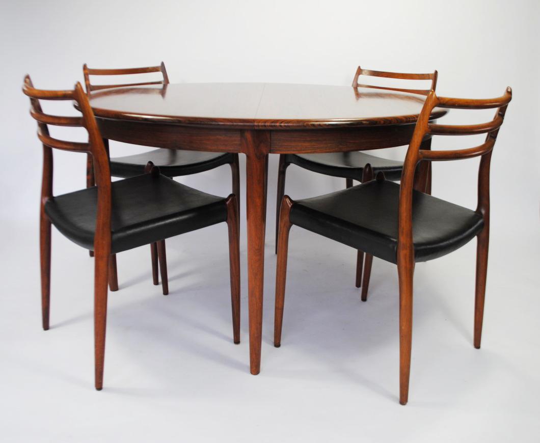 M 248 Ller Rosewood Dining Set Palissander Palissander